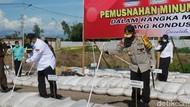 Picu Kriminalitas, 33 Ton Miras Cap Tikus Dimusnahkan di Gorontalo