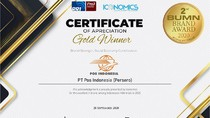 Pos Indonesia Raih Penghargaan di Ajang BUMN Brand Award 2020