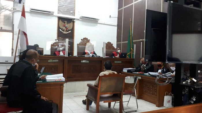 Mulyono bersaksi di sidang Ruslan Buton, di PN Jaksel, Kamis (1/10/20).