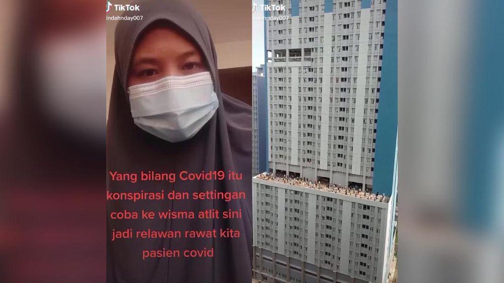 Viral Curhat Pasien COVID-19 di Wisma Atlet, Setiap Jam Dengar Suara Ambulans