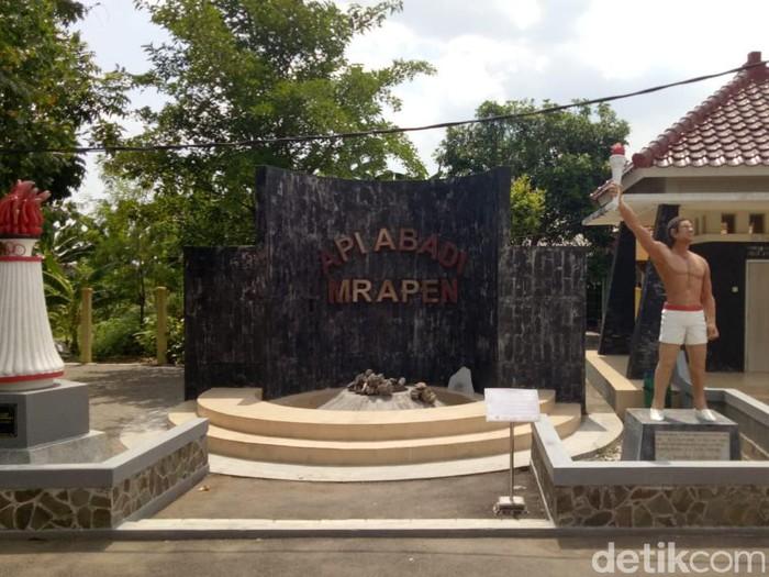 Api abadi Mrapen padam. Kepala Desa Manggarmas Achmad Mufid menyebut api abadi Mrapen itu padam sudah sepekan lalu. Foto diambil Jumat (2/10/2020)