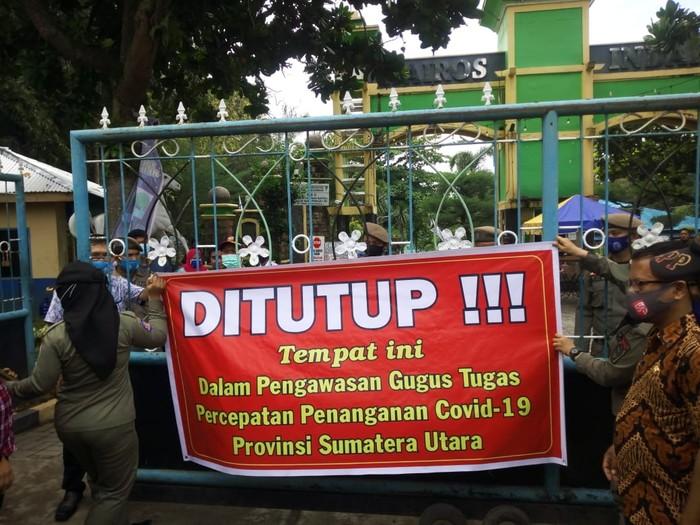 Kolam renang viral ada party saat pandemi di Sumut ditutup (Datuk Haris-detikcom)