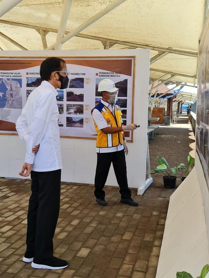 Kunjungan Jokowi ke proyek Brantas Abipraya Labuan Bajo