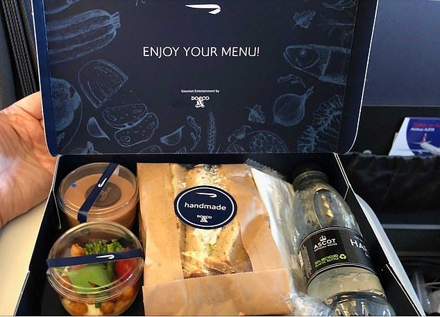 Penumpang First Class British Airway dapat Sandwich Murahan