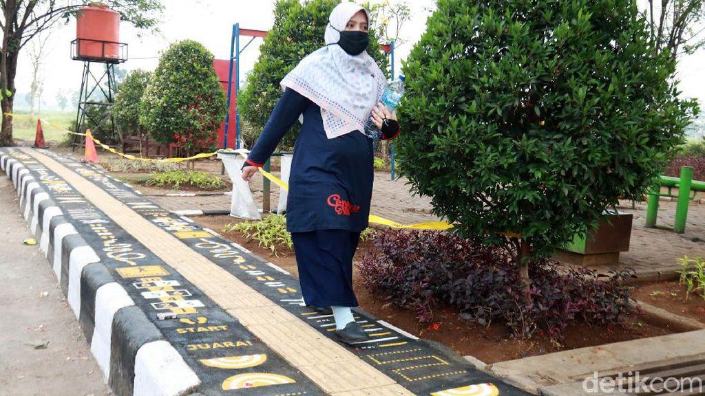Menengok Jalur Pedestarian Unik di Taman Arcamanik Bandung