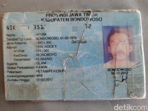 Seorang pria di Bondowoso memiliki nama unik dan singkat. Hitam. Begitulah nama yang tertera di KTP-nya.
