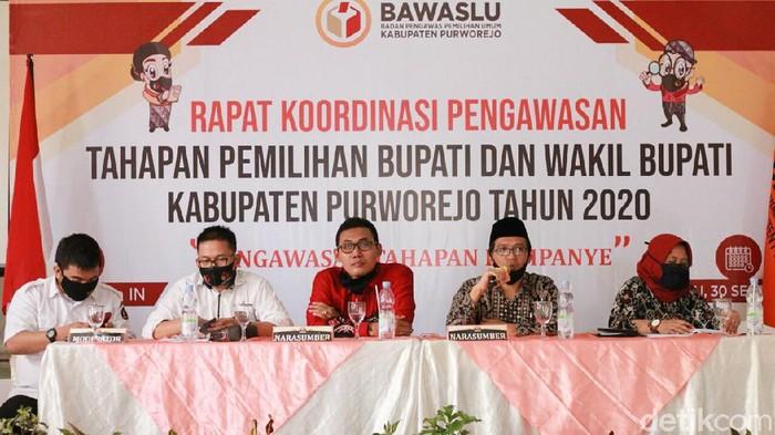 Rakor pengawasan tahapan Pilkada Purworejo, Rabu (30/9/2020).
