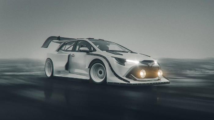 Perkiraan desain Toyota Corolla GR.