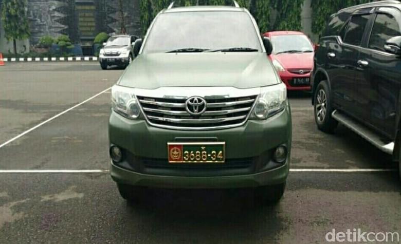 Viral mobil dinas TNI diduga dipakai sipil disita Puspomad (dok. Puspomad)