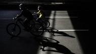 Bersepeda saat PSBB Ketat di Jakarta