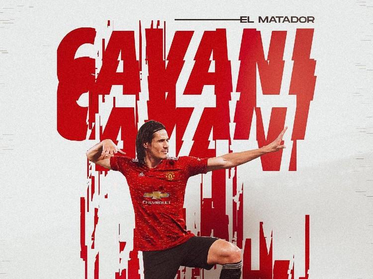 Menjelang penutupan bursa transfer musim panas, Edison Cavani dikabarkan ke Man United. Netizen pun meramaikan dengan mengedit Cavani berseragam Setan Merah.