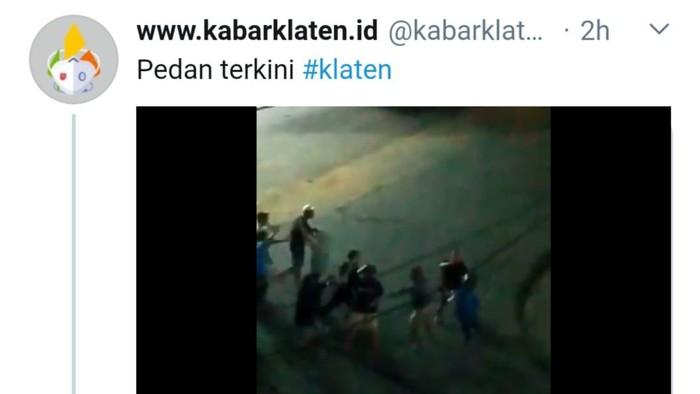 Video massa ribut di Pedan, Klaten, Minggu (4/10/2020)
