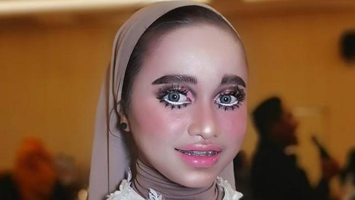 Hasil makeup baby doll Athilla Dhun