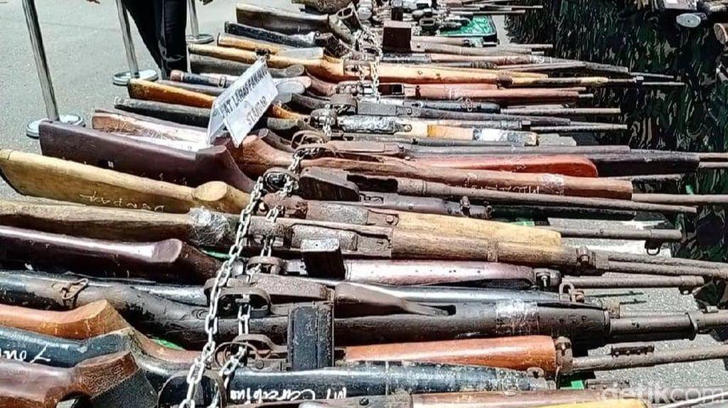 764 Senjata Api Sisa Konflik Dimusnahkan Kodam Pattimura