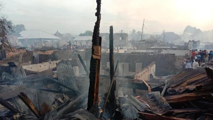Kondisi permukiman padat penduduk di Lahat, Sumsel usai kebakaran