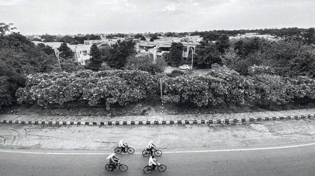 Suasana New Delhi pasca lockdown.