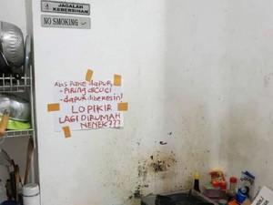 Viral Peringatan Seram di Kosan Putri yang Bikin Netizen Merinding