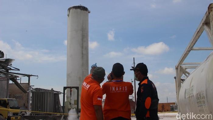 Tabung nitrogen perusahaan di Pontianak meledak akibatkan 3 orang terluka (Adi Saputro/detikcom)