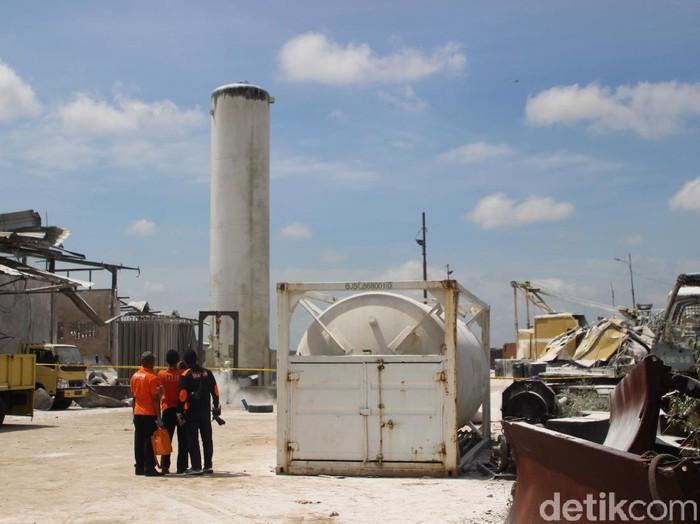 Tabung nitrogen perusahaan di Pontianak meledak akibatkan 3 orang meninggal (Adi Saputro/detikcom)