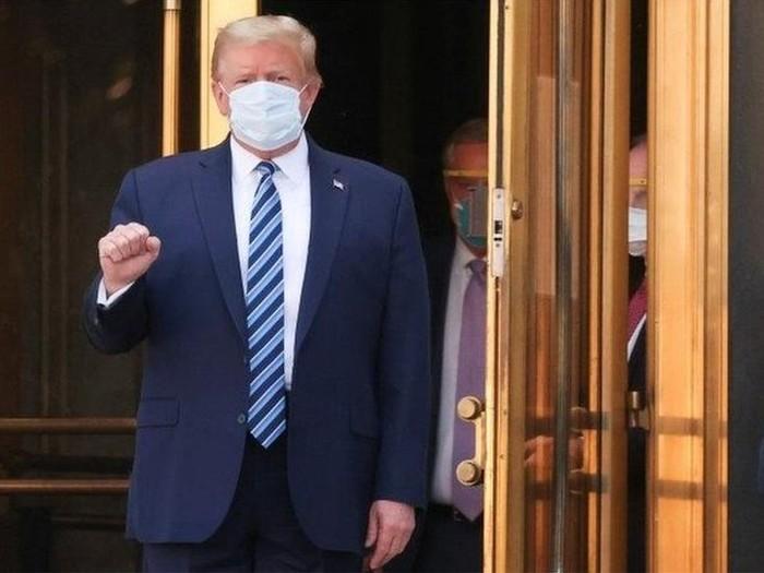 Covid-19: Presiden AS Donald Trump pulang dari RS dan lanjutkan perawatan di Gedung Putih