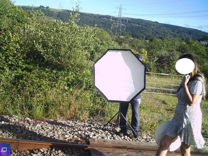 Influencer foto di rel kereta api