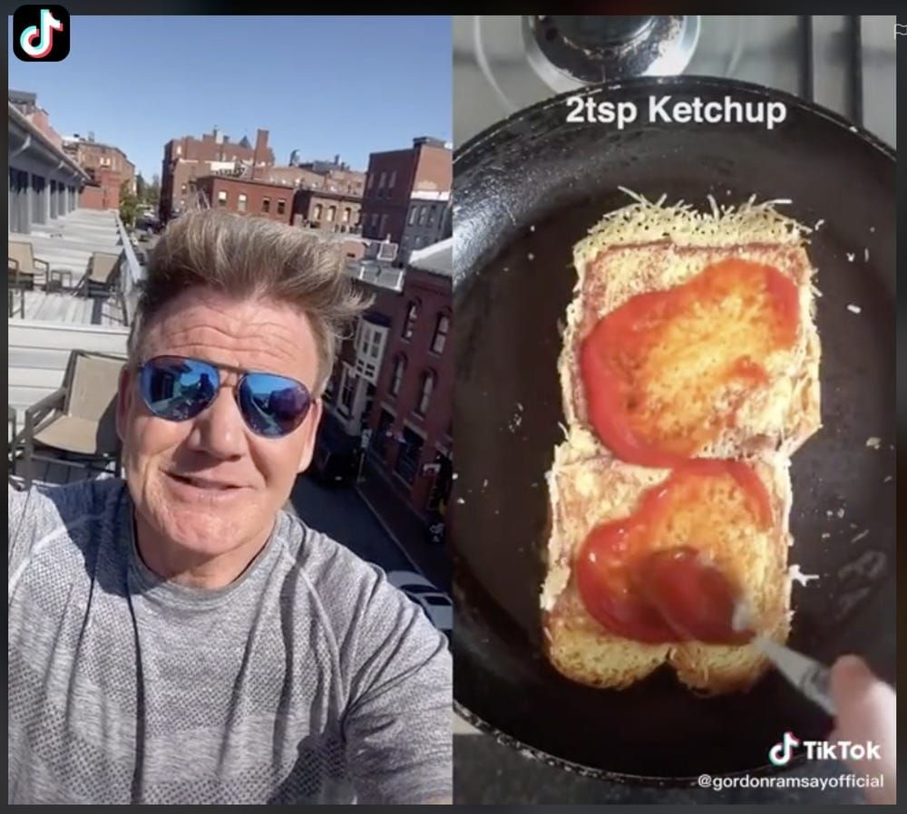 Netizen Bikin Sandwich Isi Nugget, Gordon Ramsay Sebut 'Sandwich Idiot'