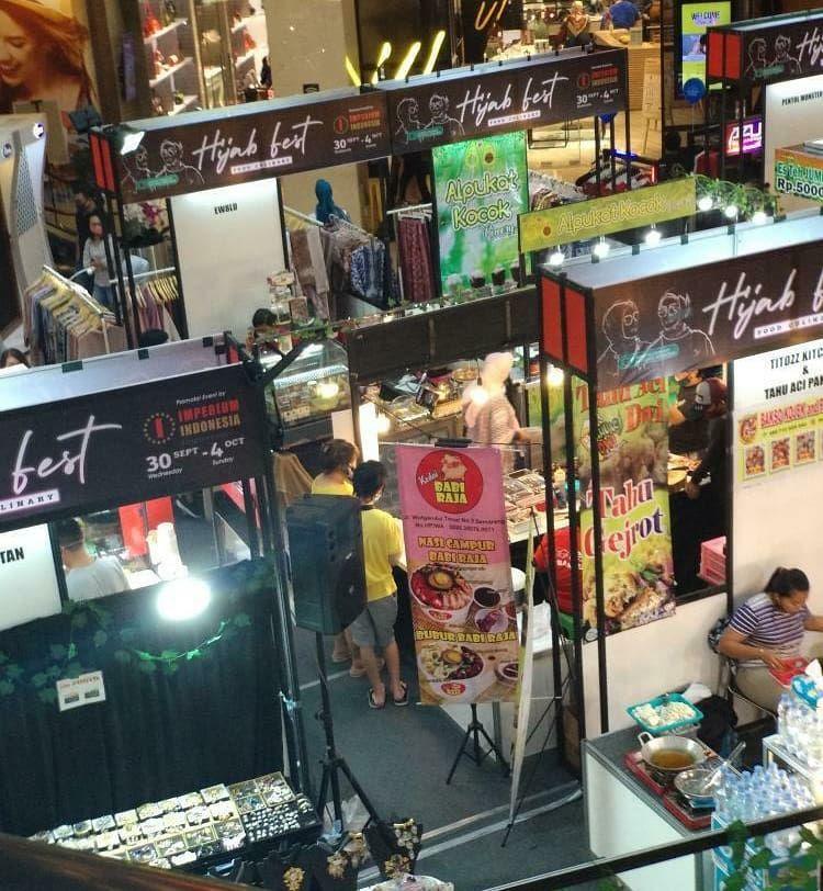 Stand Makanan Daging Babi Hadir di Hijab Fest