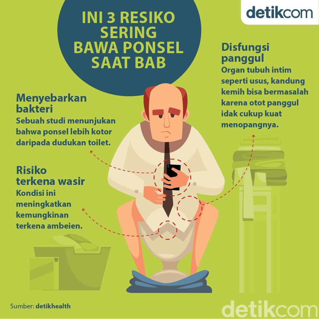 3 Alasan Tak Perlu Bawa Ponsel Saat BAB, Risiko Tanggung Sendiri!