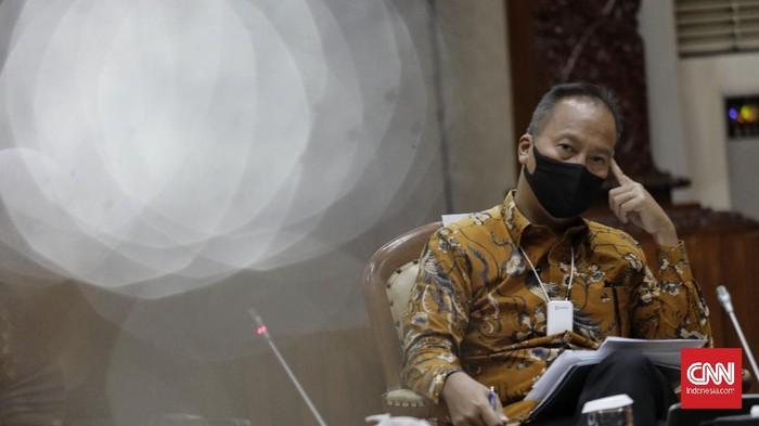 Menteri Perindustrian Agus Gumiwang, Jakarta, Rabu, 7 Oktober 2020. CNNIndonesia/ Adhi Wicaksono