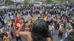 Foto Gelombang Penolakan Omnibus Law UU Ciptaker di Berbagai Daerah