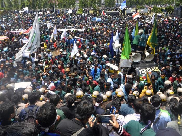 Gelombang Penolakan Omnibus Law UU Cipta Kerja di Lampung