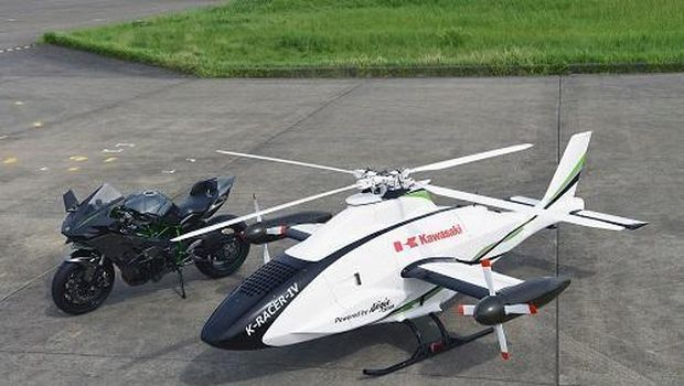 Helikopter Kawasaki bermesin Ninja H2R