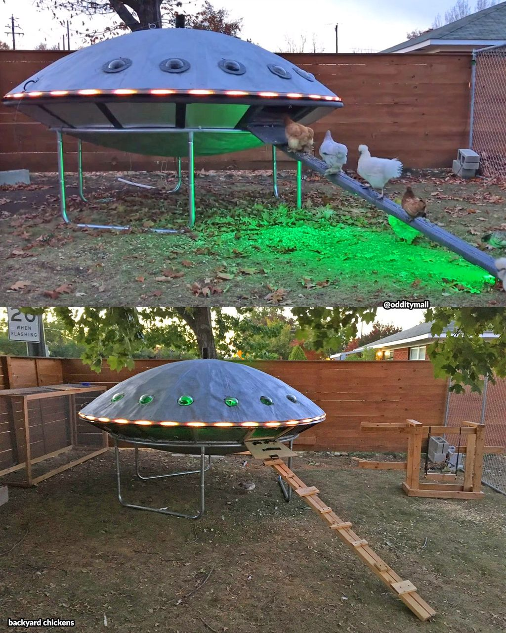 Keren! Kandang Ayam Ini Dibuat Mirip UFO yang Viral di Internet