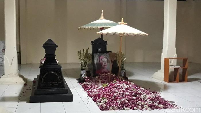 Makam orang tua Presiden Joko Widodo (Jokowi) setelah dikunjungi, Rabu (7/10/2020).