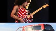 Fans Berat, Pemilik Pikap Ini Cat Mobilnya Mirip Gitar Eddie Van Halen