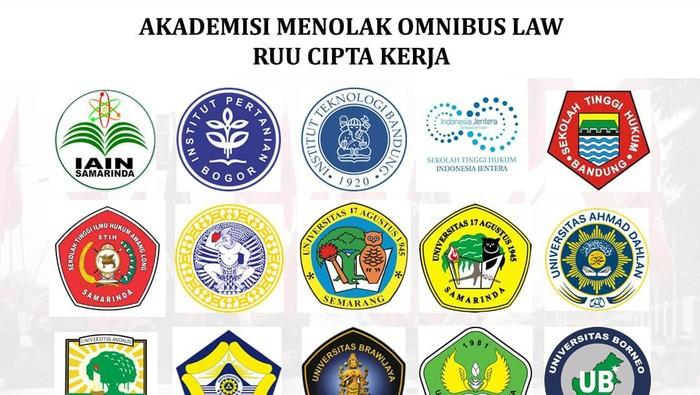 Rastusan akademisi dari berbagai universitas menolak pengesahan UU Cipta Kerja
