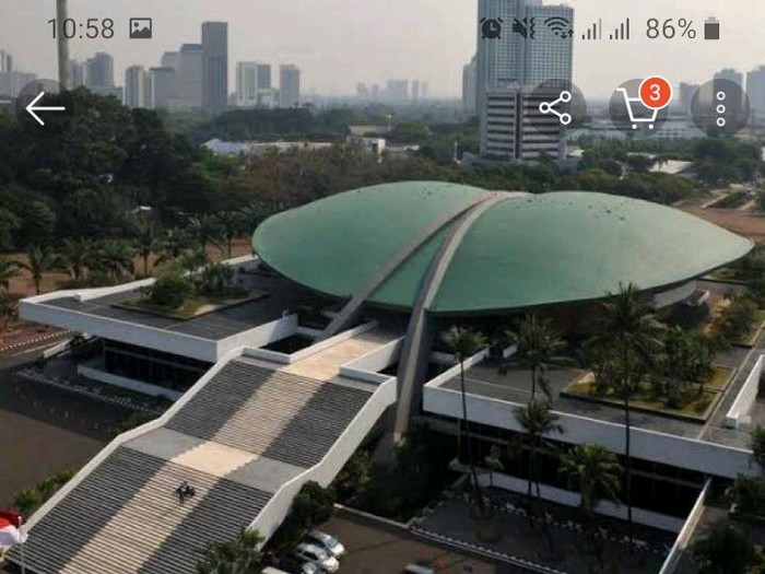 Screenshot Gedung DPR RI Dijual di Akun Belanja Online