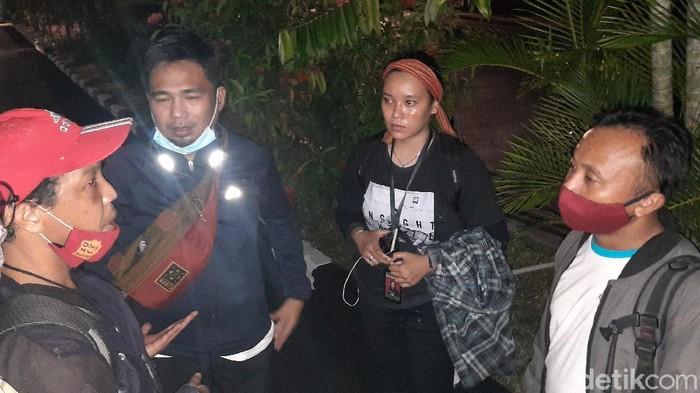 3 wartawan Palu yang dipukul oknum polisi melapor ke Polda Sulteng (M Qadri/detikcom)