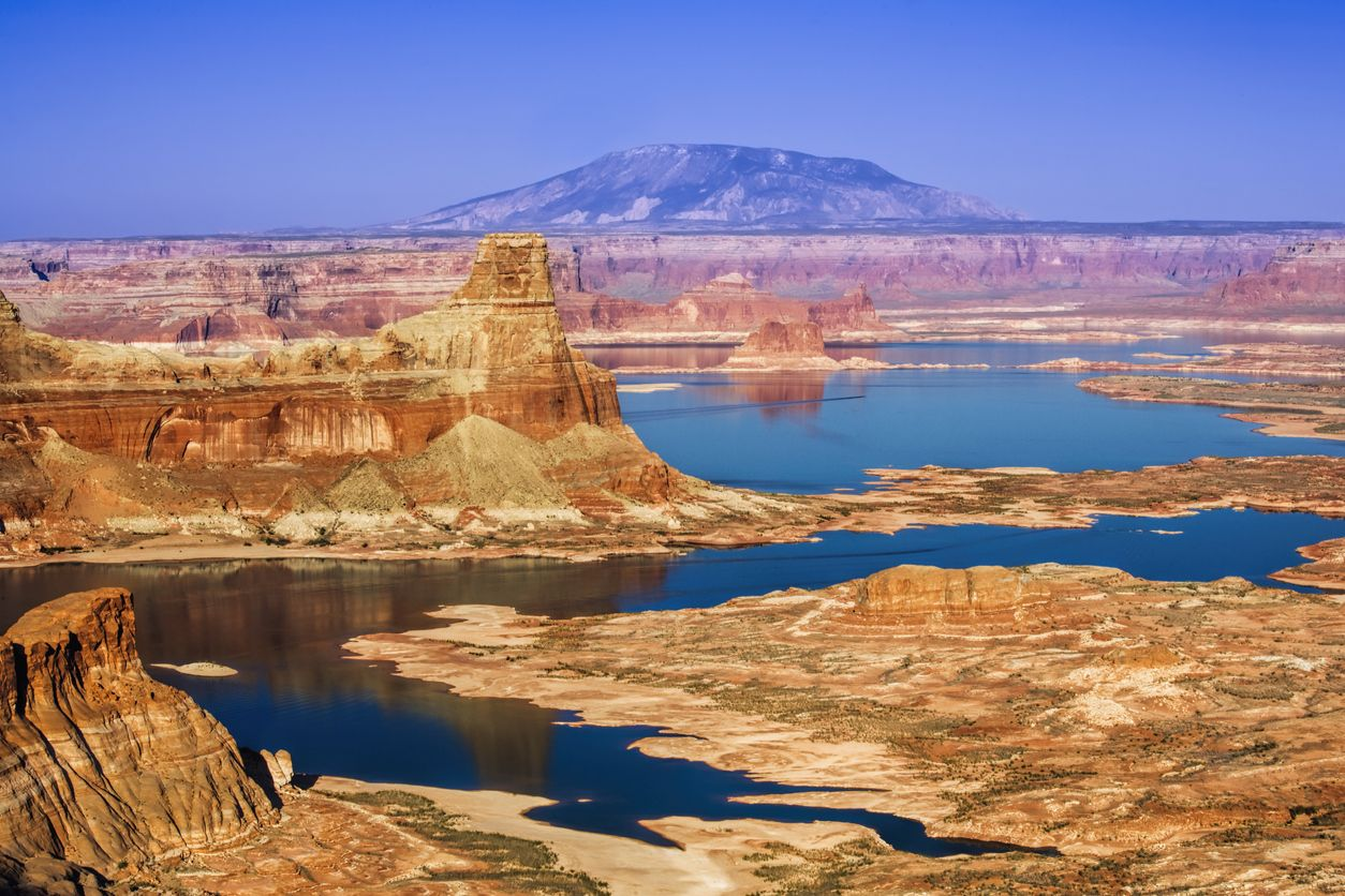 Gunsight Butte on the Utah side of Lake Powell in Glen Canyon National Recreation Area USA