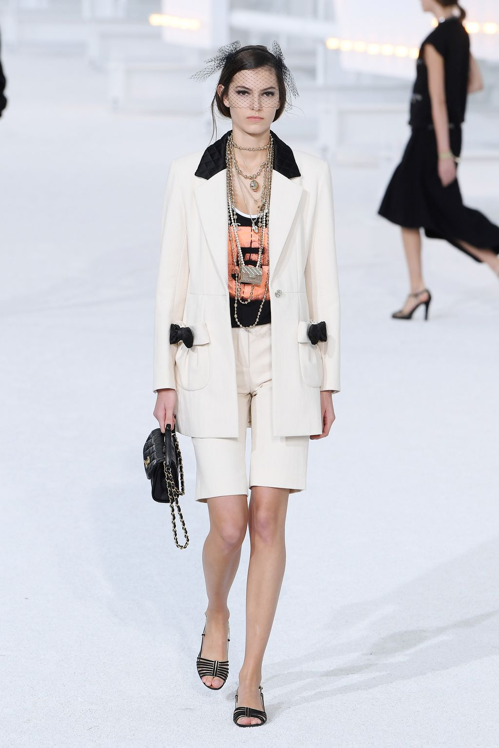 PARIS, FRANCE - OCTOBER 06: A model walks the runway during the Chanel Womenswear Spring/Summer 2021 show as part of Paris Fashion Week on October 06, 2020 in Paris, France. (Photo by Pascal Le Segretain/Getty Images)