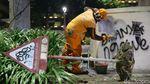 Potret Kerusakan Demo Ricuh di Jakarta
