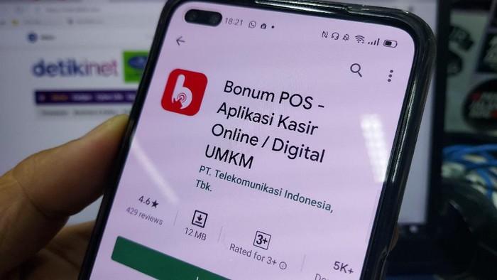 Aplikasi Bonum, layanan kasir digital besutan Telkom untuk pelaku UKM.