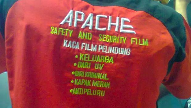 Kaca film anti peluru apache