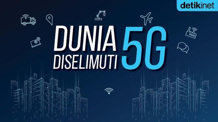 Ilustrasi Dunia Diselimuti 5G