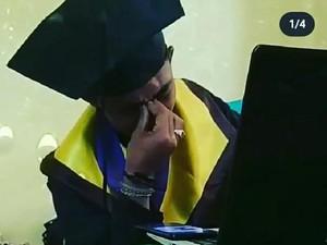 Viral Perjuangan Mahasiswa 6 Tahun Kuliah, Berakhir Wisuda di Atas Kasur