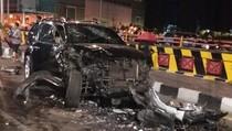 Saat SUV Lawan Arus di Surabaya Tabrakan dengan Motor dan Mobil