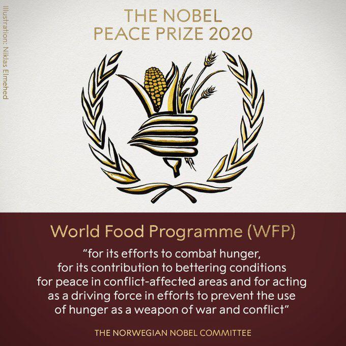 WFP Raih Penghargaan Nobel Perdamaian 2020