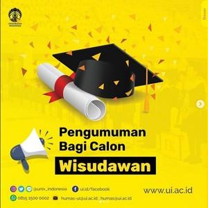 Intip Aturan Wisuda Online di Kampus Universitas Indonesia