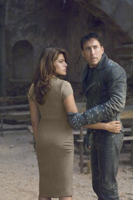 GR-373  Eva Mendes (left) and Nicolas Cage (right) star in Columbia Pictures Ghost Rider.  Photo By: Jasin Boland