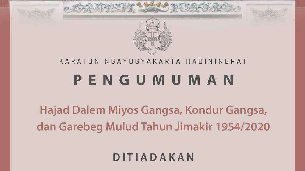 Pandemi COVID-19, Keraton Yogya Sederhanakan Peringatan Maulud Nabi